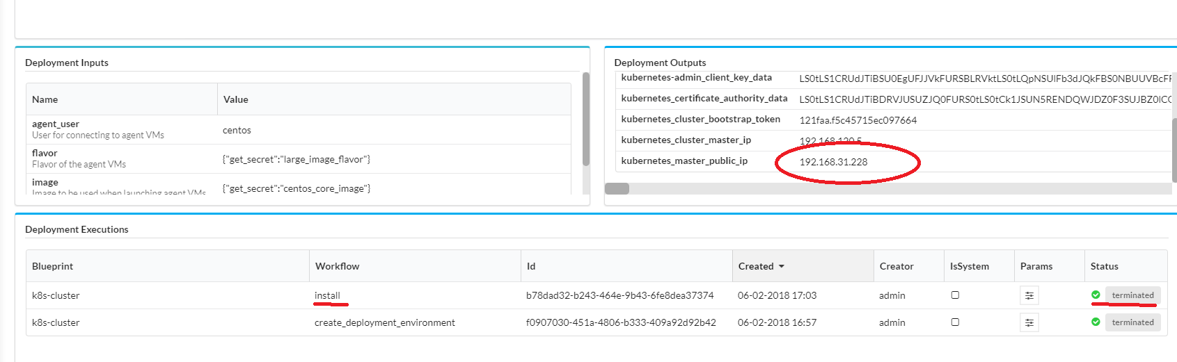 Onap on kubernetes on cloudify developer wiki confluence you can find the public ip of master node the private key to access those vm is in that cloudify launching vm malvernweather Choice Image
