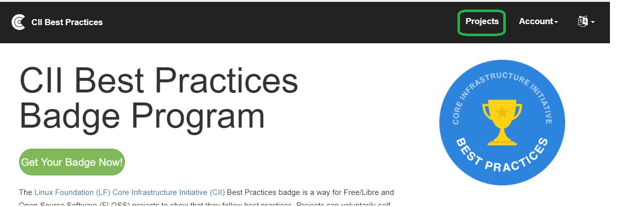 CII Badging Program - Developer Wiki - Confluence