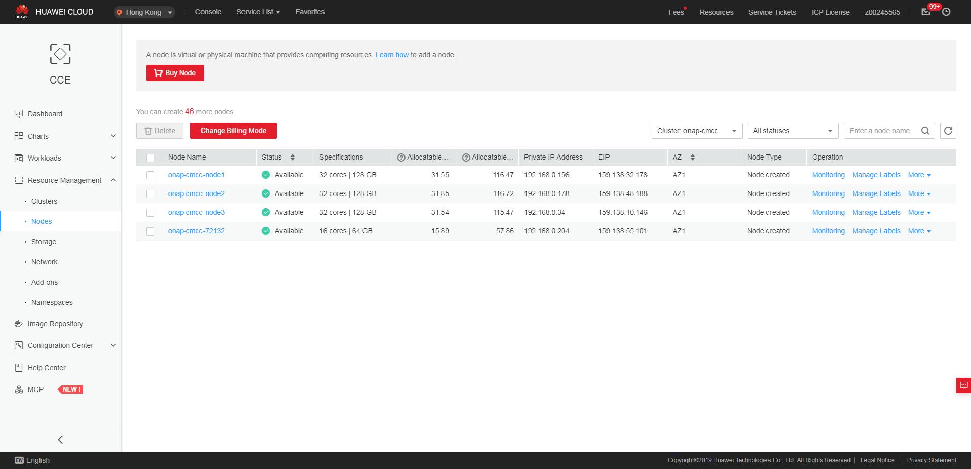 ONAP on Kubernetes on Huawei Cloud - Developer Wiki - Confluence